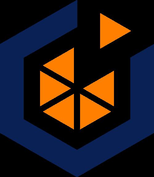 工业轴承六边形齿轮矢量logo
