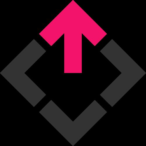 方形箭头快递物流图标logo
