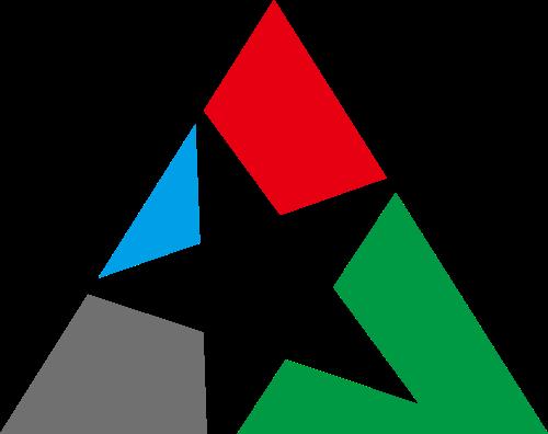 三角形镂空五角星业绩销售商务矢量图标素材