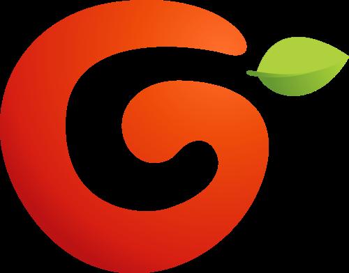 健康水果字母G矢量logo图标素材