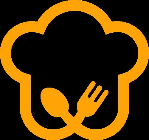 餐饮厨师帽勺子叉子美味logo