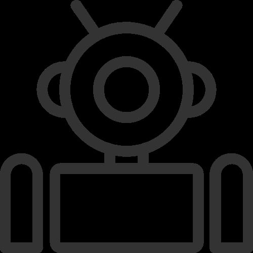 智能科技机器人矢量图标素材