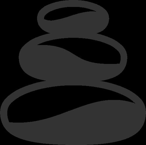 抽象几何拼接瑜伽运动鹅卵石矢量图标素材