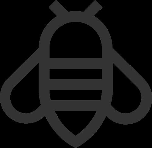 可爱卡通昆虫蜜蜂矢量图标素材矢量logo