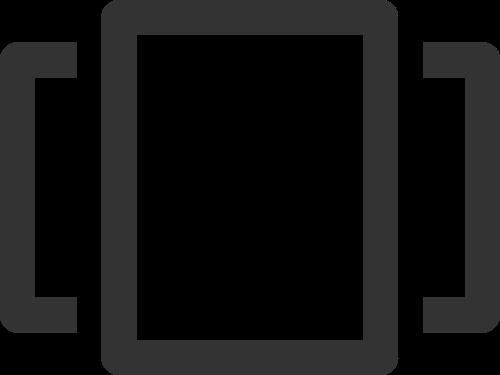 简笔抽象方形窗户矢量图标素材