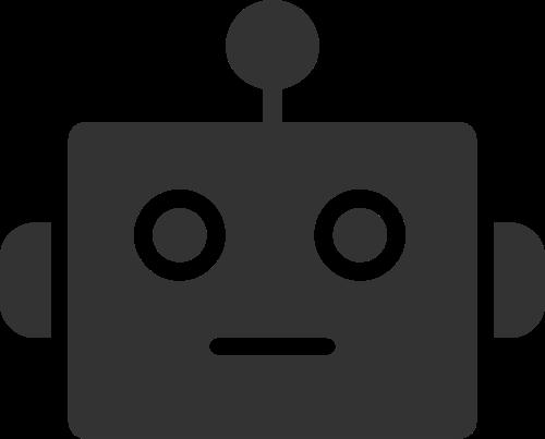 几何拼接方形机器人头部矢量素材