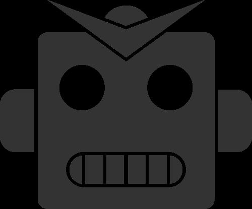 可爱卡通科技战斗机器人矢量图标素材