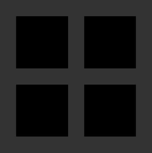 简笔方形四格简单窗户矢量图标素材
