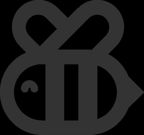 可爱昆虫卡通蜜蜂矢量图标素材矢量logo