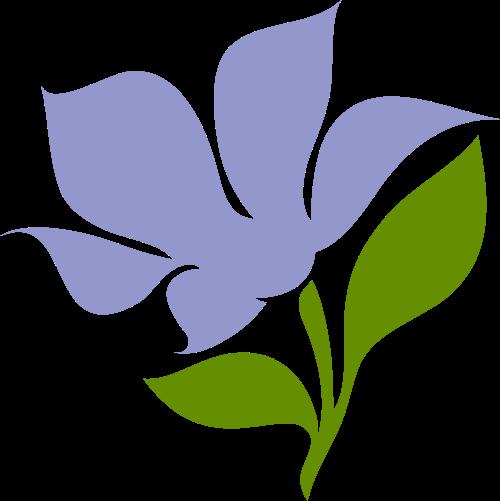清新花朵花卉植物美容养生logo图标素材
