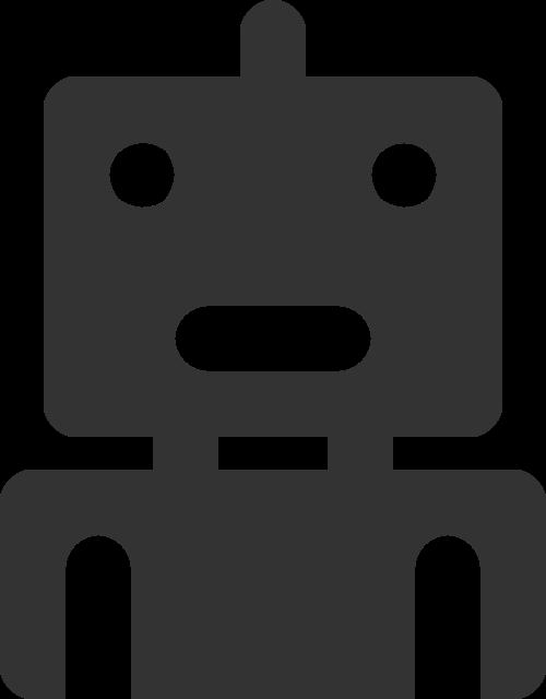 可爱卡通机器人矢量图标素材