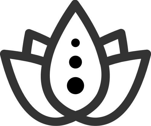 简约线条拼接瑜伽花朵矢量图标素材