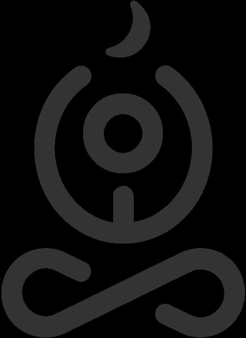 简约线条拼接瑜伽香薰蜡烛矢量图标素材