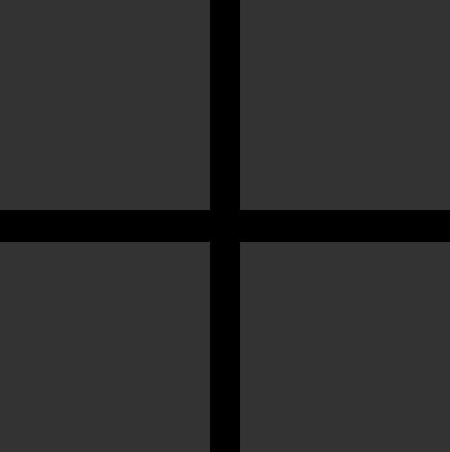 简单方形四格填充窗户矢量图标素材