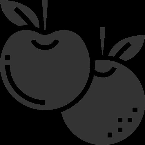 几何抽象拼接水果苹果橙子矢量图标素材矢量logo