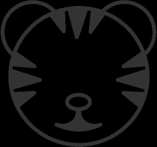 可爱卡通简约线条动物小老虎矢量图标素材矢量logo