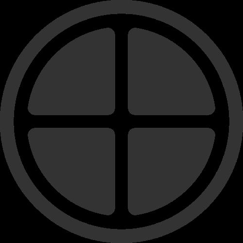 圆形卡通农户窗户矢量图标素材