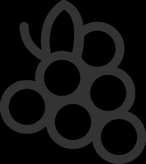 简约线条水果葡萄矢量图标素材矢量logo