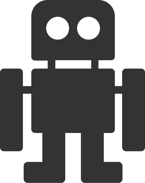 简单方形智能科技机器人矢量图标素材