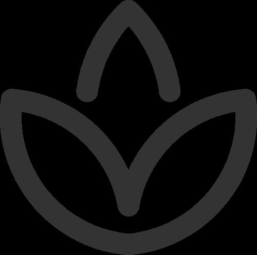 简约线条休闲养生水疗spa花朵矢量图标素材