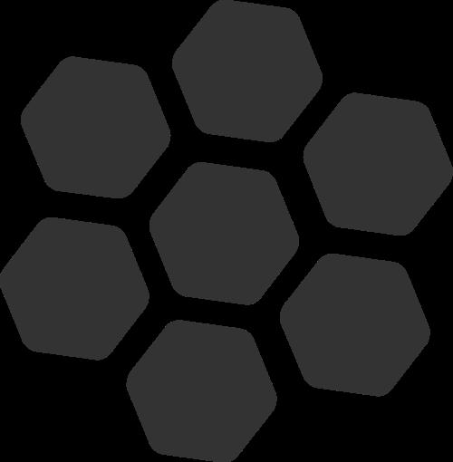 蜜蜂蜂巢矢量图标素材