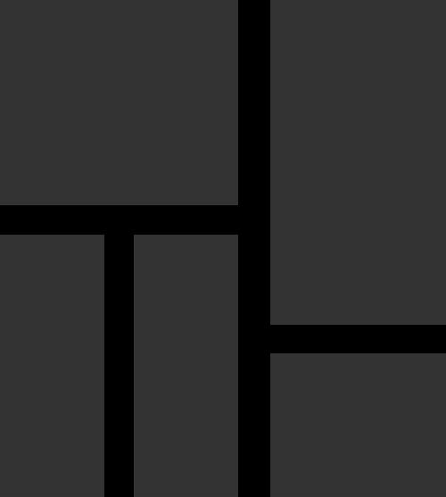 抽象几何拼接窗户矢量图标素材