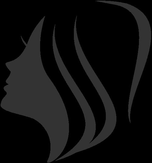 几何拼接美容美发人脸矢量图标素材