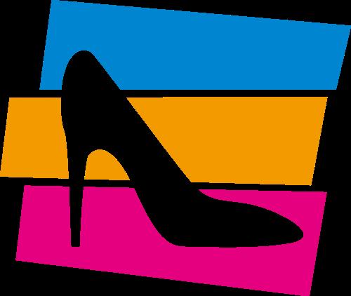 高跟鞋女鞋休闲购物logo图标素材