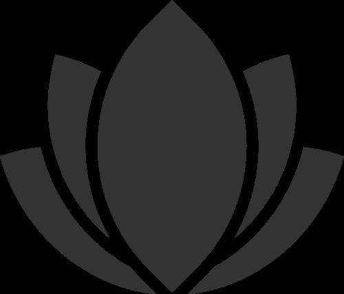 美容按摩瑜伽几何拼接花朵矢量图标素材