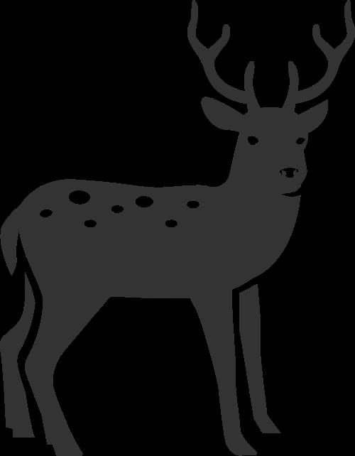 可爱简约拼接动物梅花鹿矢量图标素材