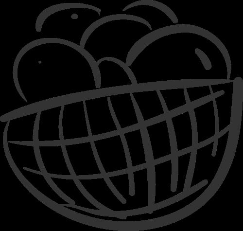 简约线条水果篮矢量图标素材矢量logo