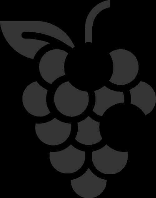 几何抽象拼接水果葡萄串矢量图标素材