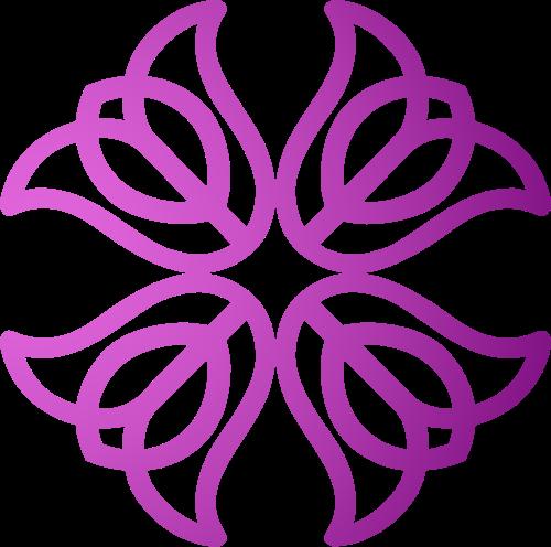 渐变喇叭花花朵花卉植物花店矢量图标素材