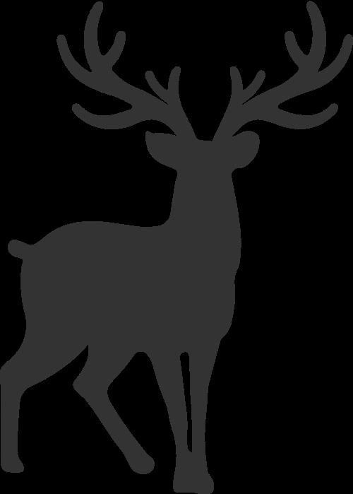 抽象拼接动物公鹿矢量图标素材