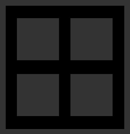 抽象田字方形窗户矢量图标