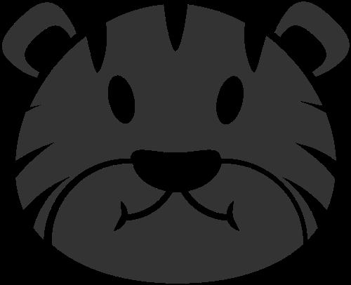 可爱卡通抽象动物老虎面具矢量图标素材