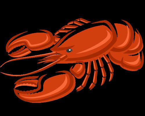 写实立体美味小龙虾侧面矢量logo素材图形