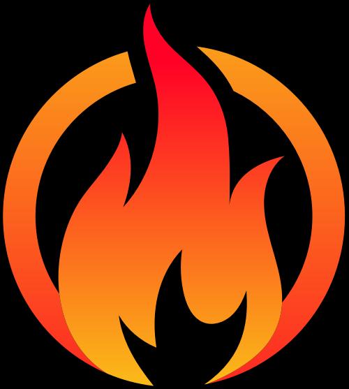烧烤串串圆形火苗矢量图形矢量logo