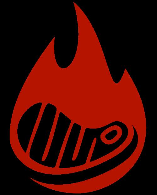 烧烤串串火苗烤肉矢量图形矢量logo