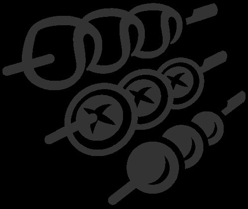 烧烤串串矢量图形矢量logo