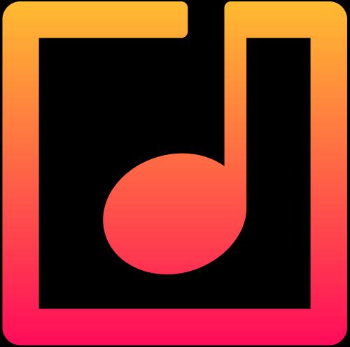 橙色方形音符标志icon