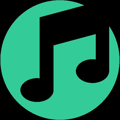 绿色圆形音乐音符logo图标