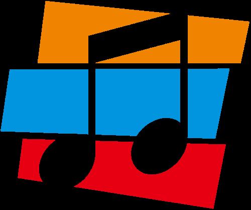 彩色音乐音符logo图标