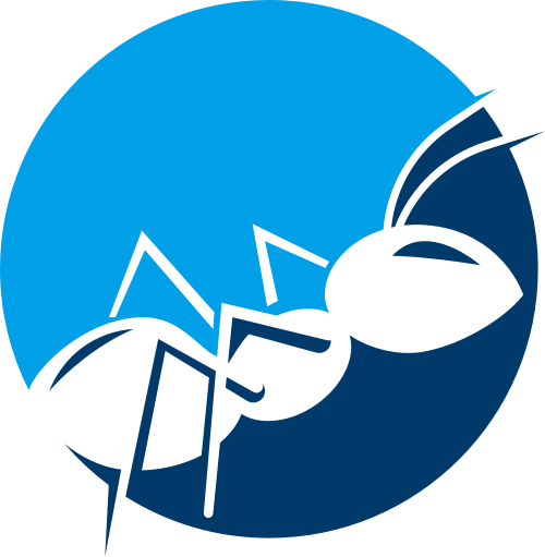 圆形蚂蚁logo图片矢量logo