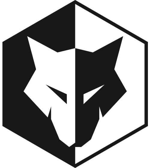 六边形狼头logo图标素材矢量logo