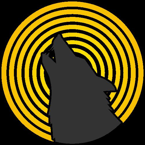 圆形狼logo图片