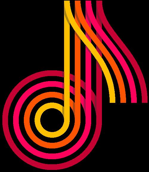 立体音符logo