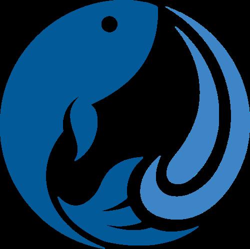圆形鱼logo