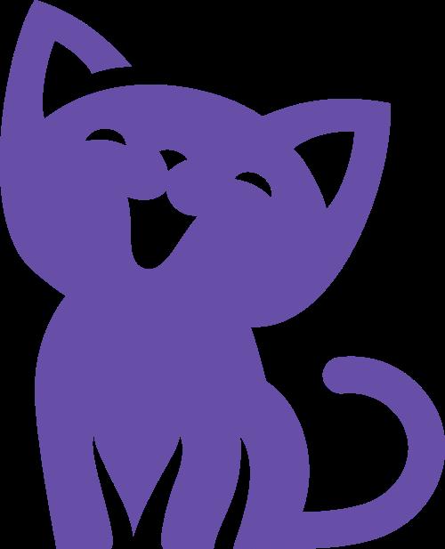 可爱小猫矢量图形