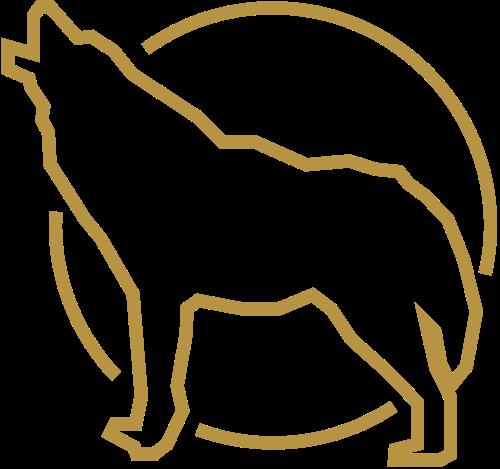 简约线条狼形logo素材图片矢量logo
